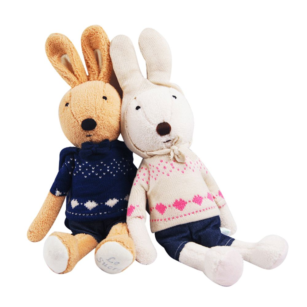 30CM Knitted Sweater Rabbit Plush Toy Doll