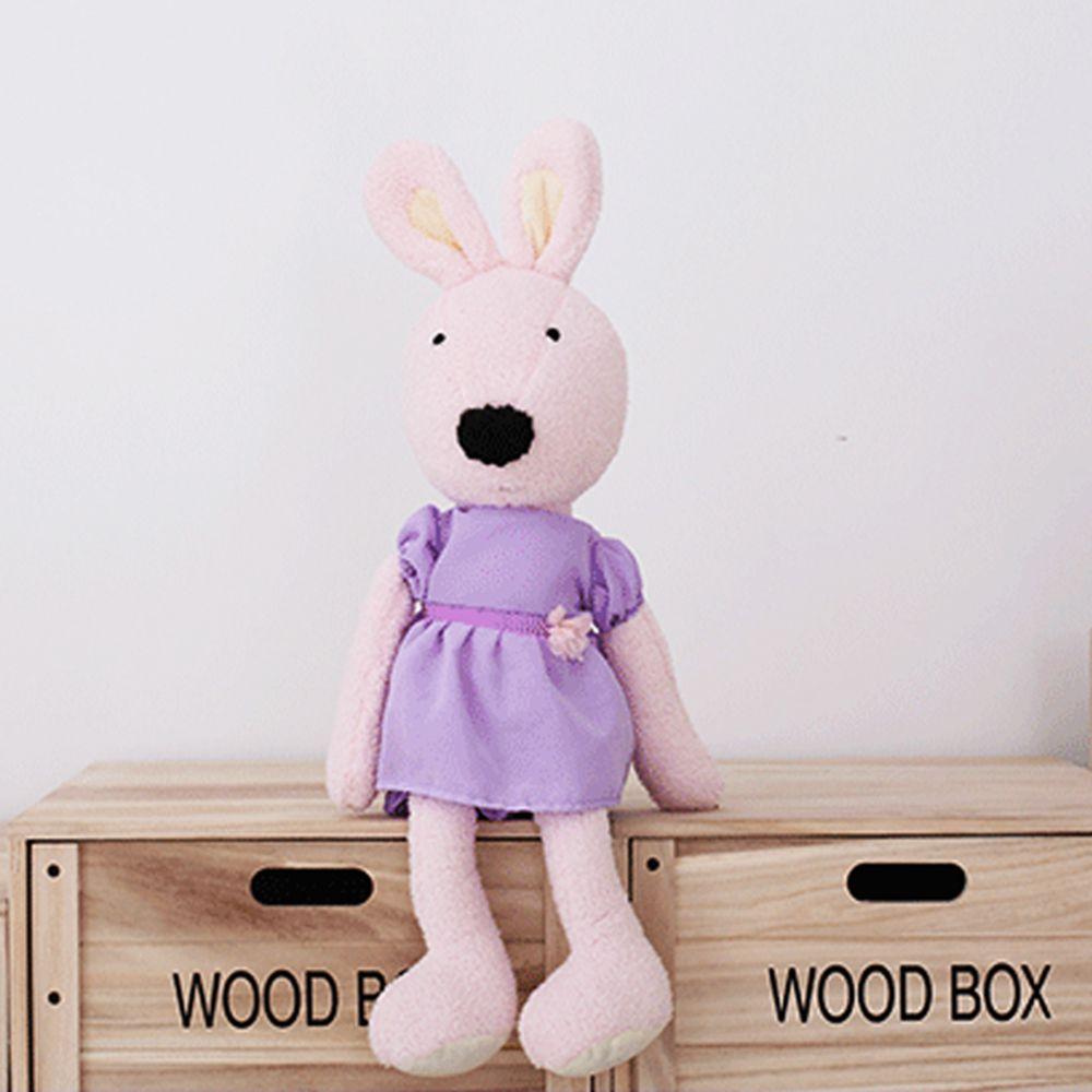 30CM Purple Dress Rabbit Plush Toy Doll