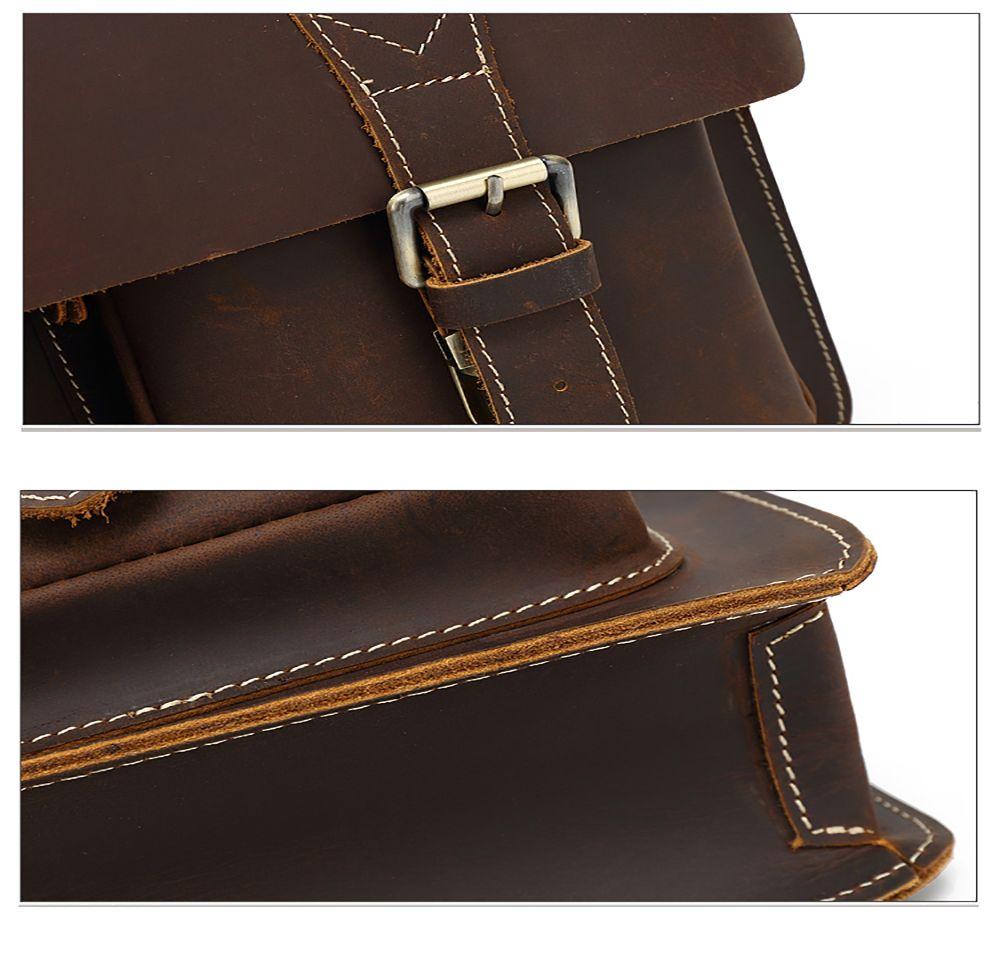 AUGUR Men Genuine Leather Messenger Shoulder Business Briefcase Handbag Laptop Bag