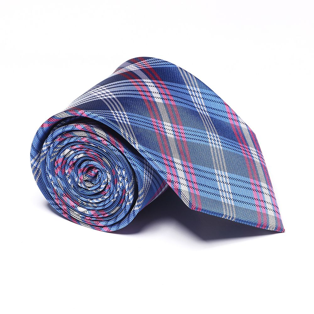 Fashion Men's Accessories Business Necktie Lattice Pattern Smooth All Match Classic Striped Plaid Casual Tie