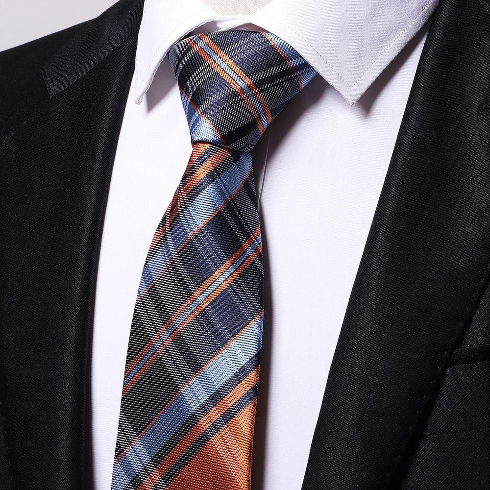 Fashion Men's All Match Accessories Business Necktie Lattice Pattern Striped Handsome Ventilate Tie