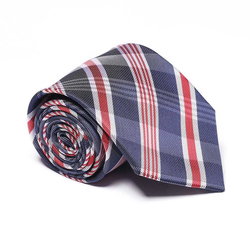 New Fashion Men's Accessory Business Necktie Striped Lattice Elegant Striped Classic Tie