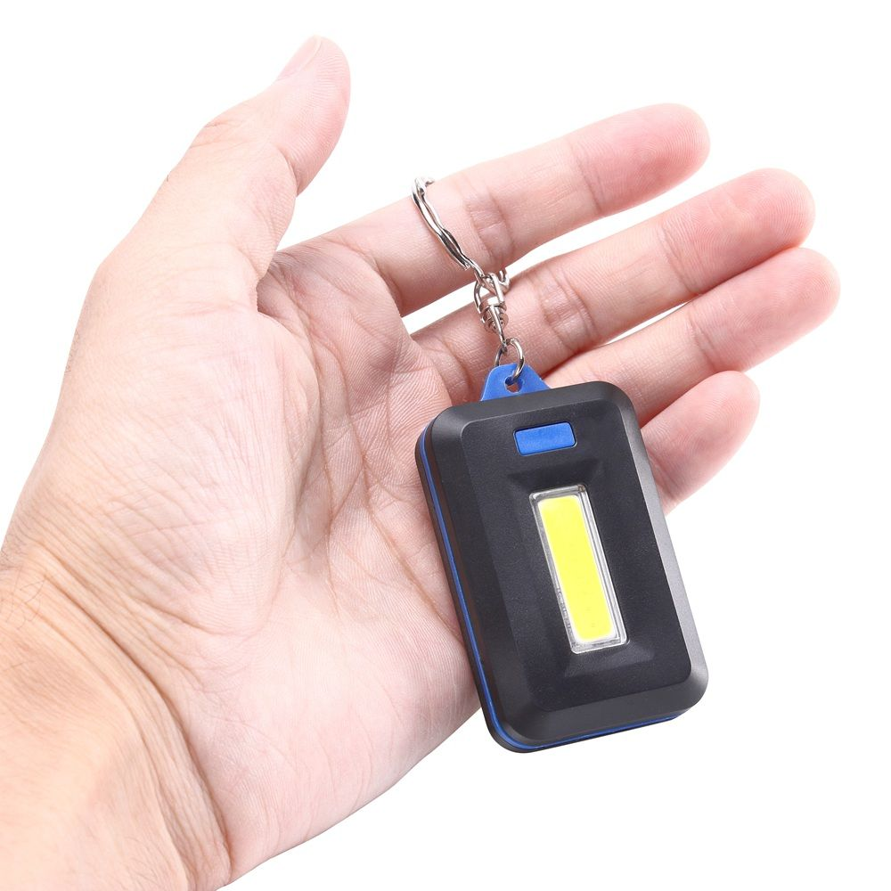 U'King ZQ-X1300  1000LM 3 Mode 8 LED COB Flashlight Lamp with Key Ring
