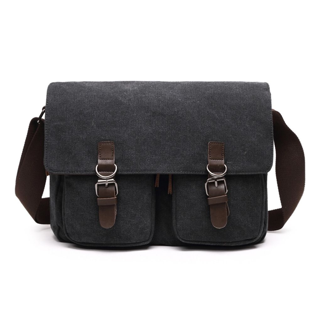 Young Fashion Slanted Canvas Shoulder Rucksack