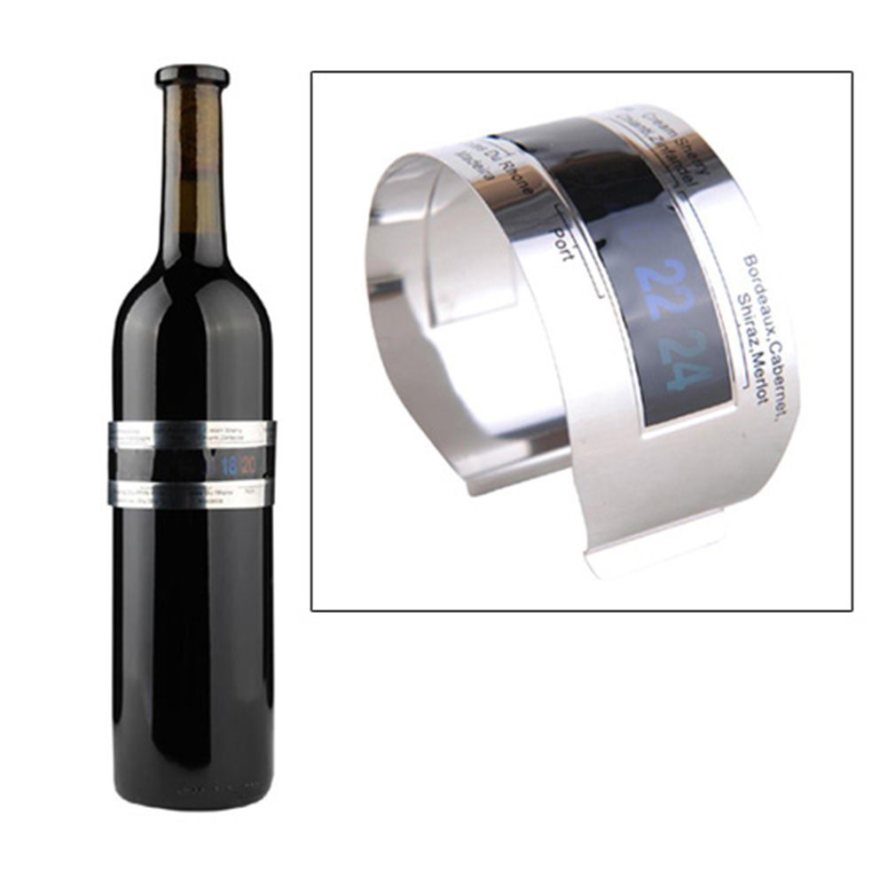 Hoard Stainless Steel Wine Bracelet Thermometer 4-26 Centigrade Degree Red Wine Temperature Sensor