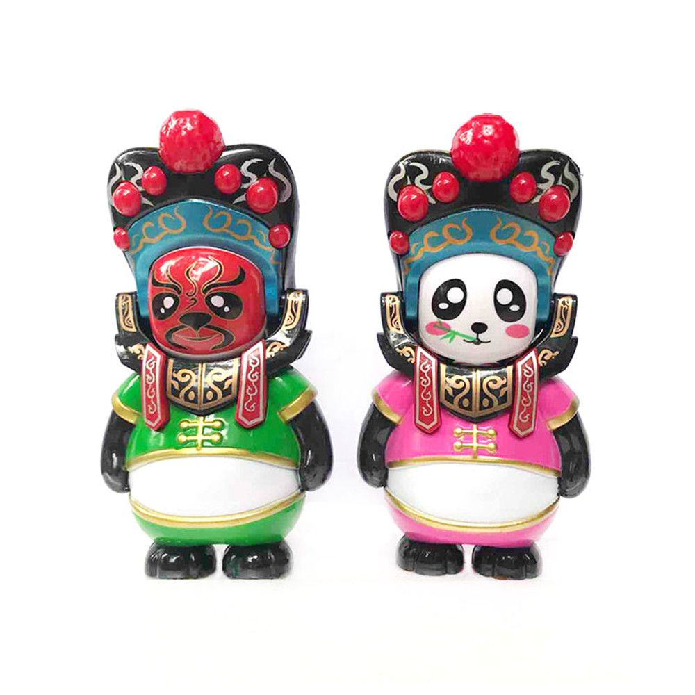 Classical Chinese Sichuan Opera Face The Panda Doll Gifts for Children
