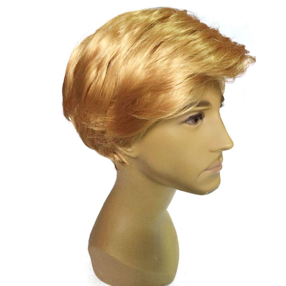 Men Golden Fashion Short Wig