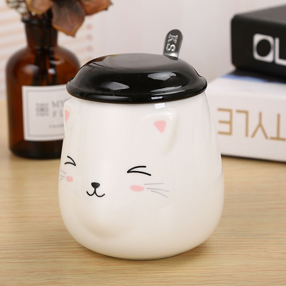 400ML Cute Cat Creative Expression Ceramic Mug