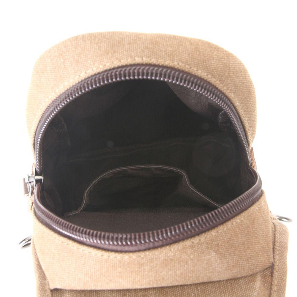 Outdoor Traveling Canvas Slanted Across Single Shoulder Backpack