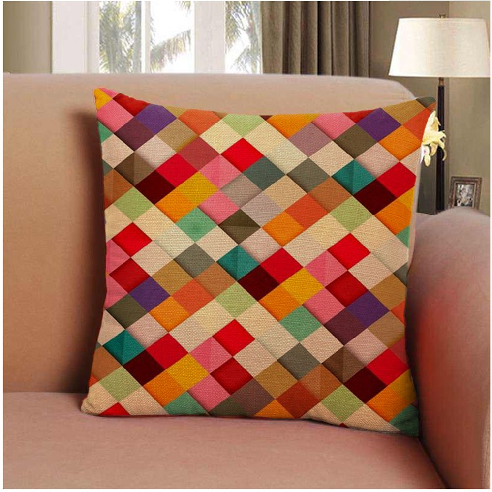 Soft Colored Squares Home Decor Pillow Case