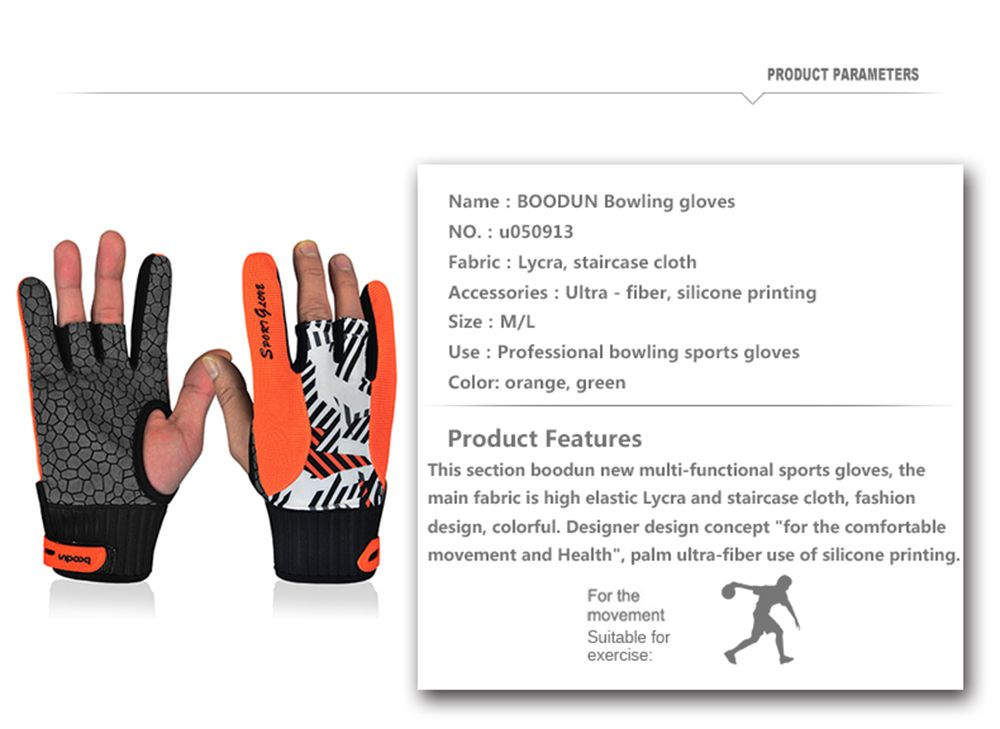 Professional Anti-Skid Bowling Gloves Comfortable Bowling Accessories Semi-finger Instruments Sports Gloves Mittens