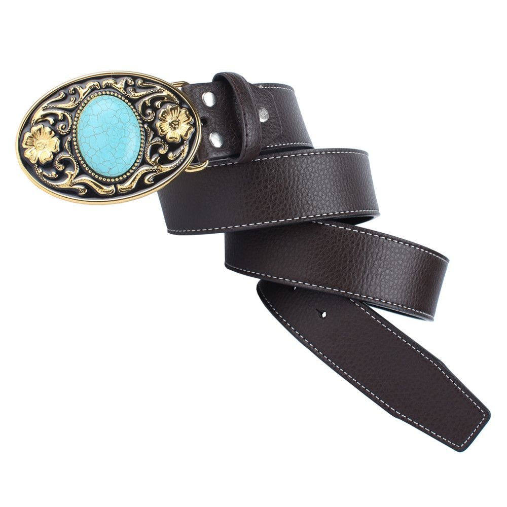 The western cowboy belt of turquoise stone