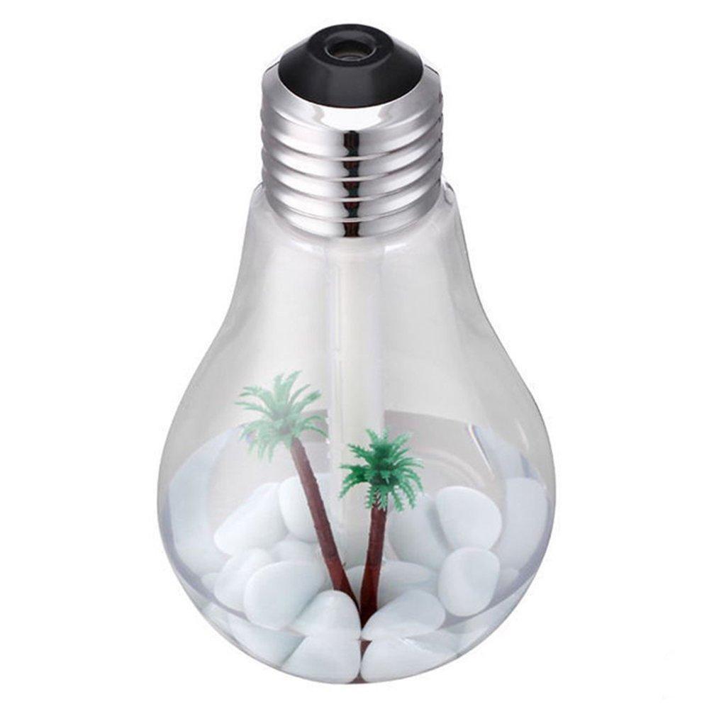 Light Bulb Humidifier Air Purification Silent Seven Color Conversion Mute