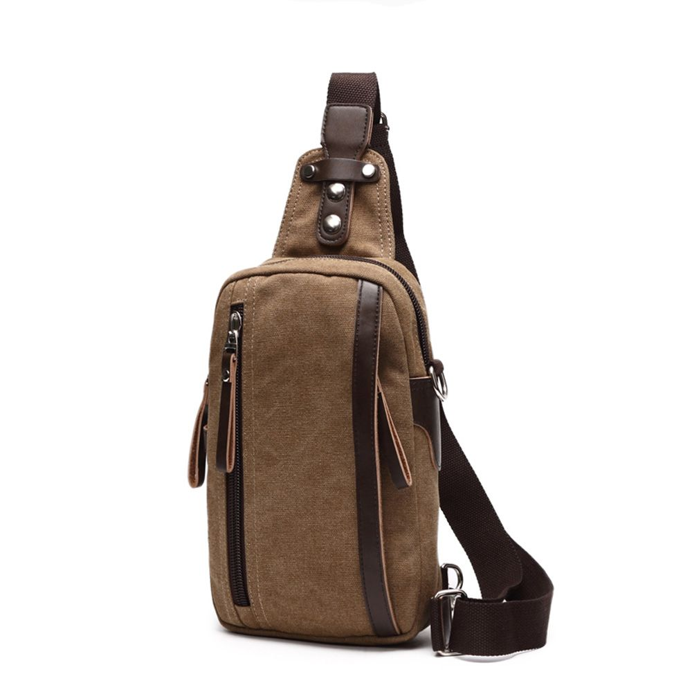 Outdoor Casual Canvas Slanted Across Single Shoulder Backpack