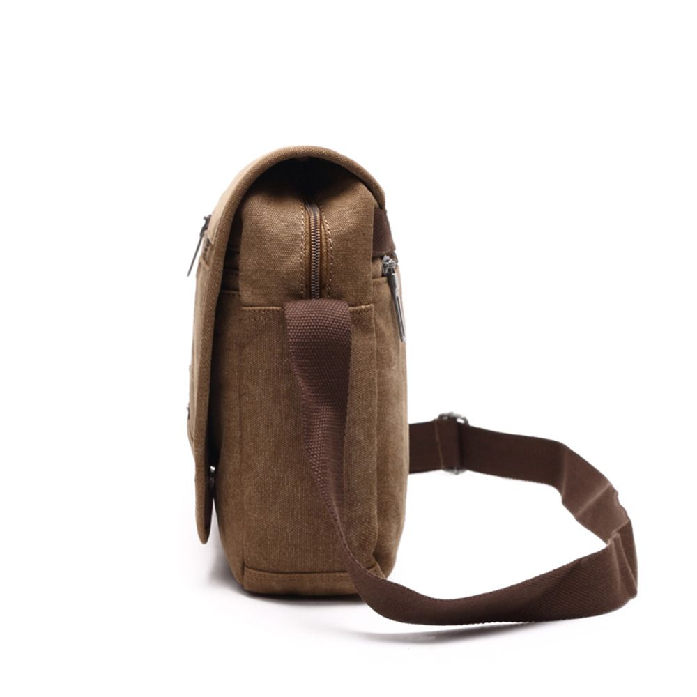 Casual Canvas Slanted Across Single Shoulder Backpack
