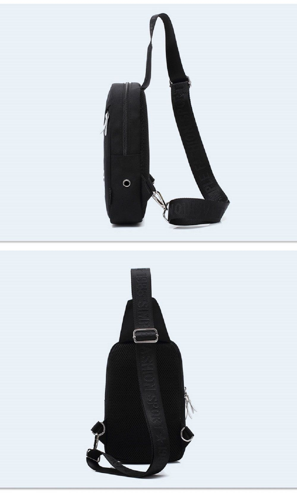 AUGUR Men Crossbody Bag Oxford Shoulder Waterproof Small Male Messenger Casual Travel Chest Bag