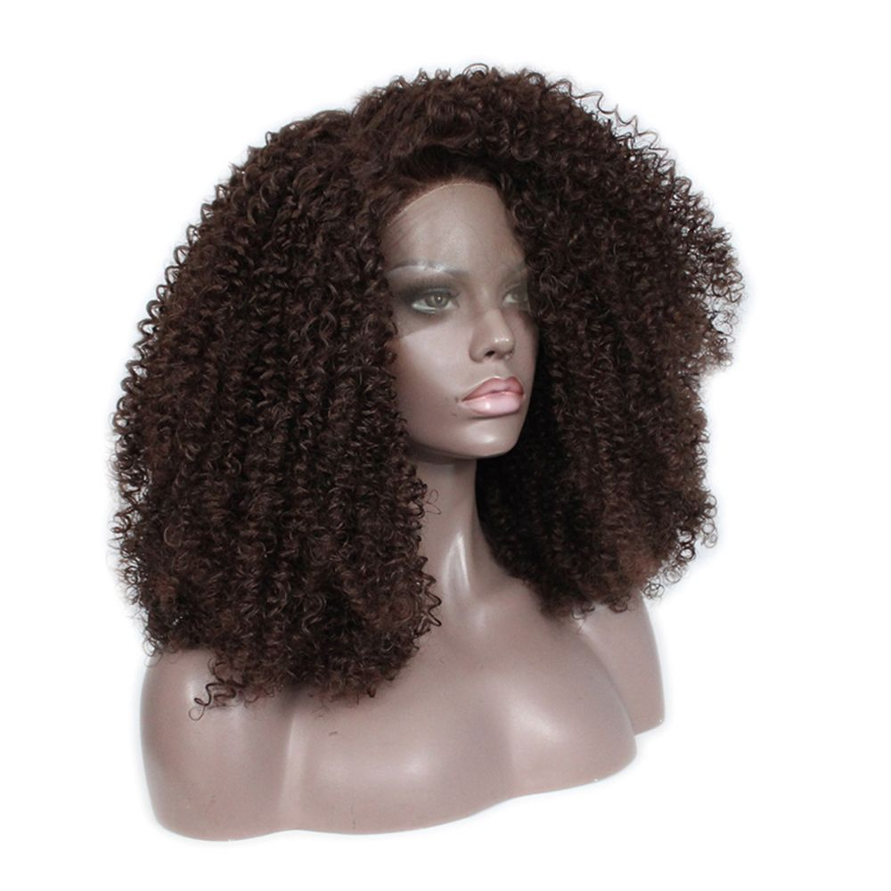Front Lace Chemical Fiber Wig, Wig Head, Chemical Fiber AC - 1 Brown
