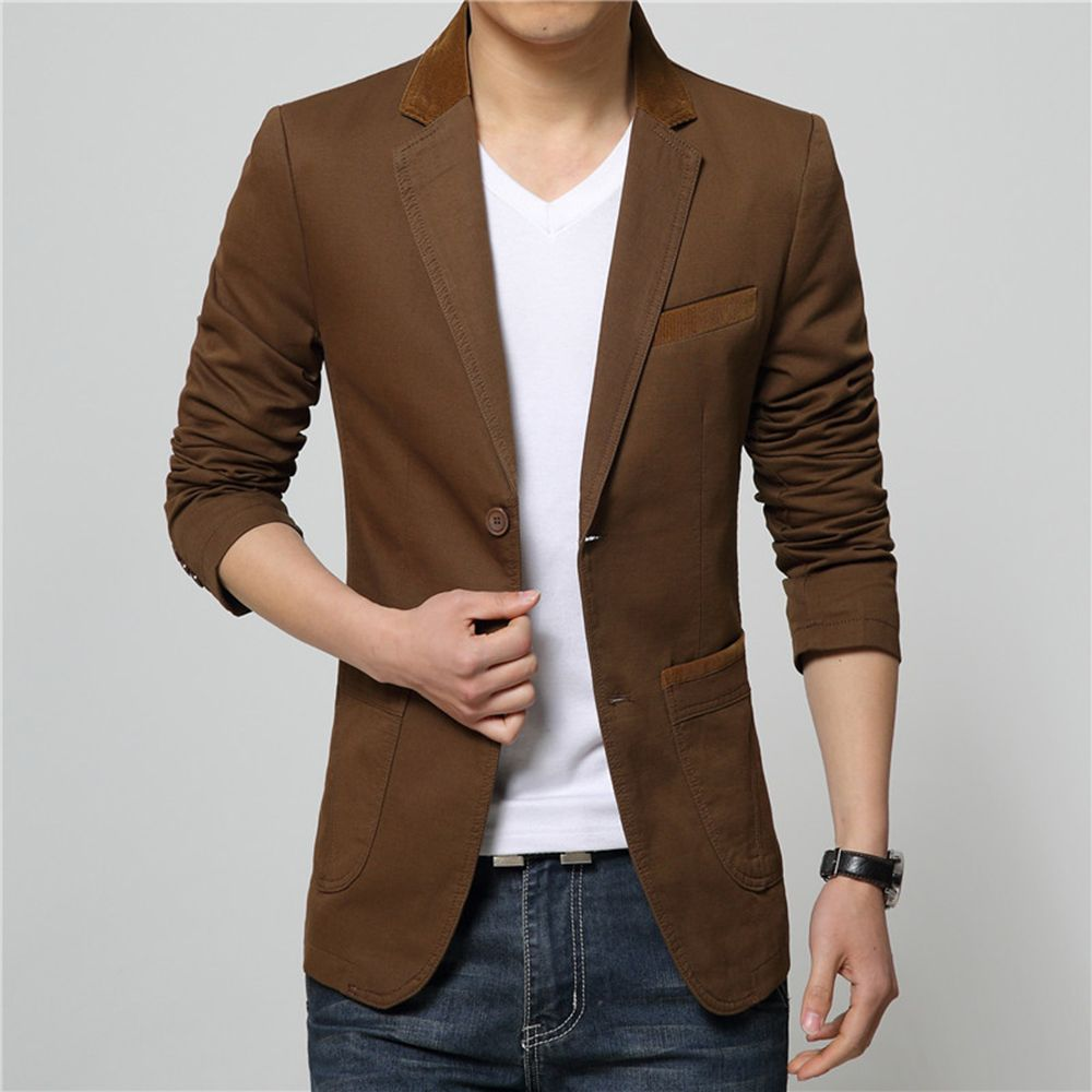 Winter Fall Spring Men Turn-Down Collar Overcoat Casual Fashion Slim Outwear Trench Coat