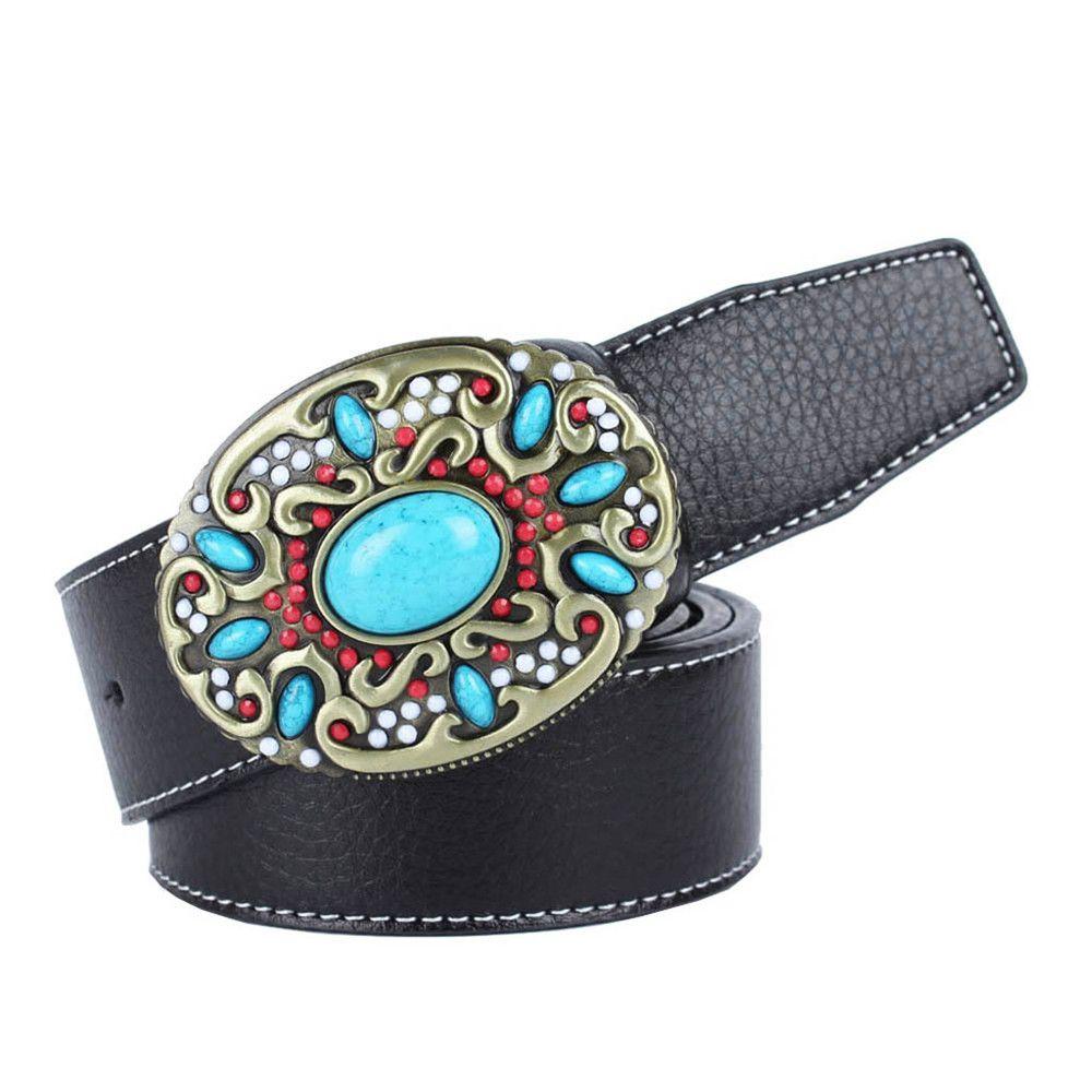 Blue Gem Belt Leather