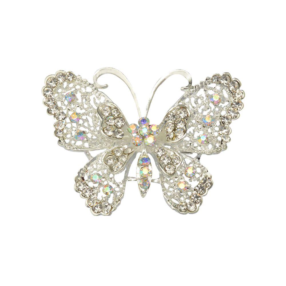 Butterfly Brooch for Women Rhinestone Broches Fashion Bijouterie Wedding Jewelry