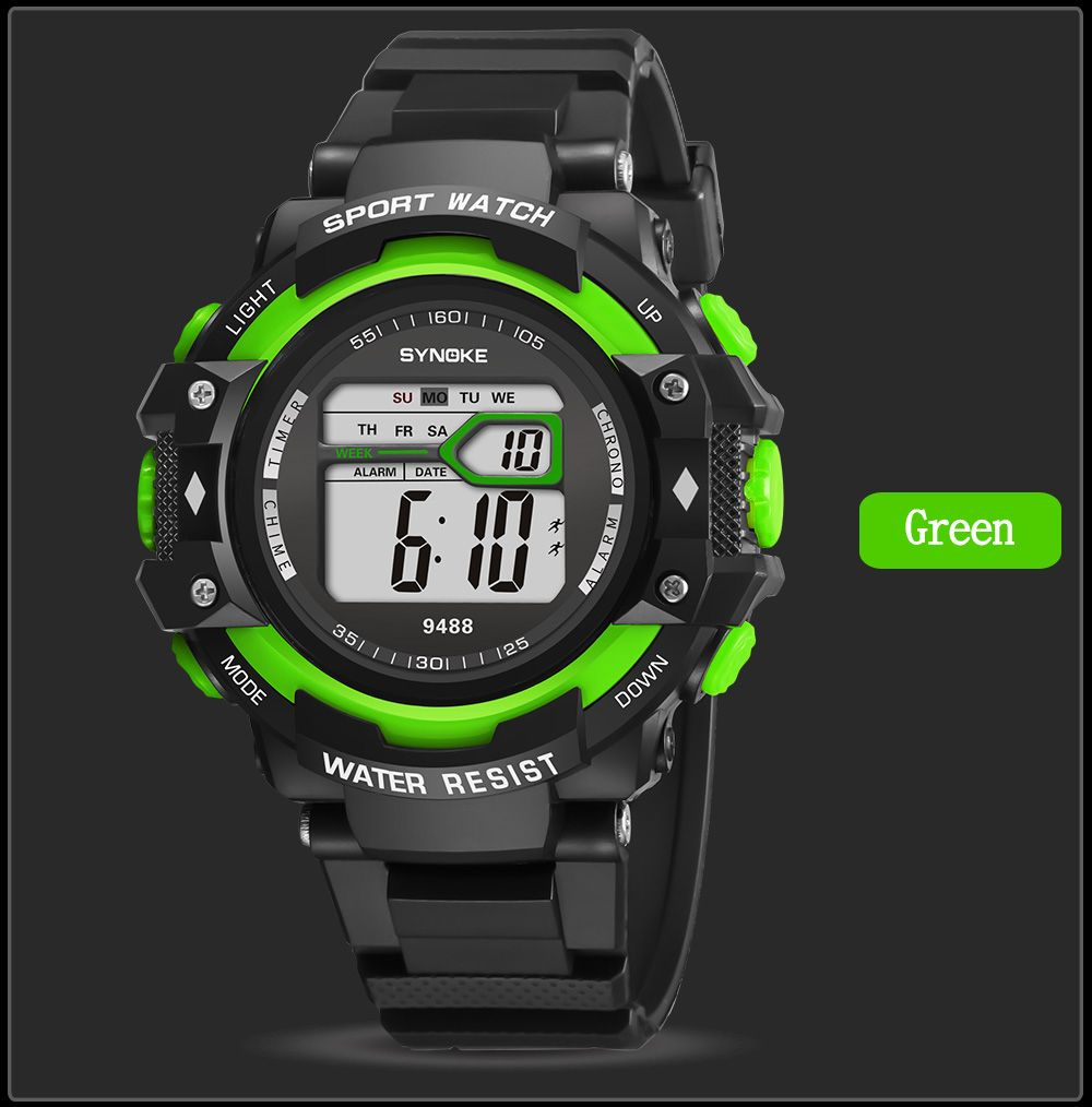 SYNOKE 9488 Student Fashion Sports Multi-Function Electronic Watch