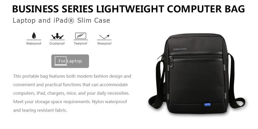 Kingsons  Shoulder External Usb Charging Port 10-INCH Single Package