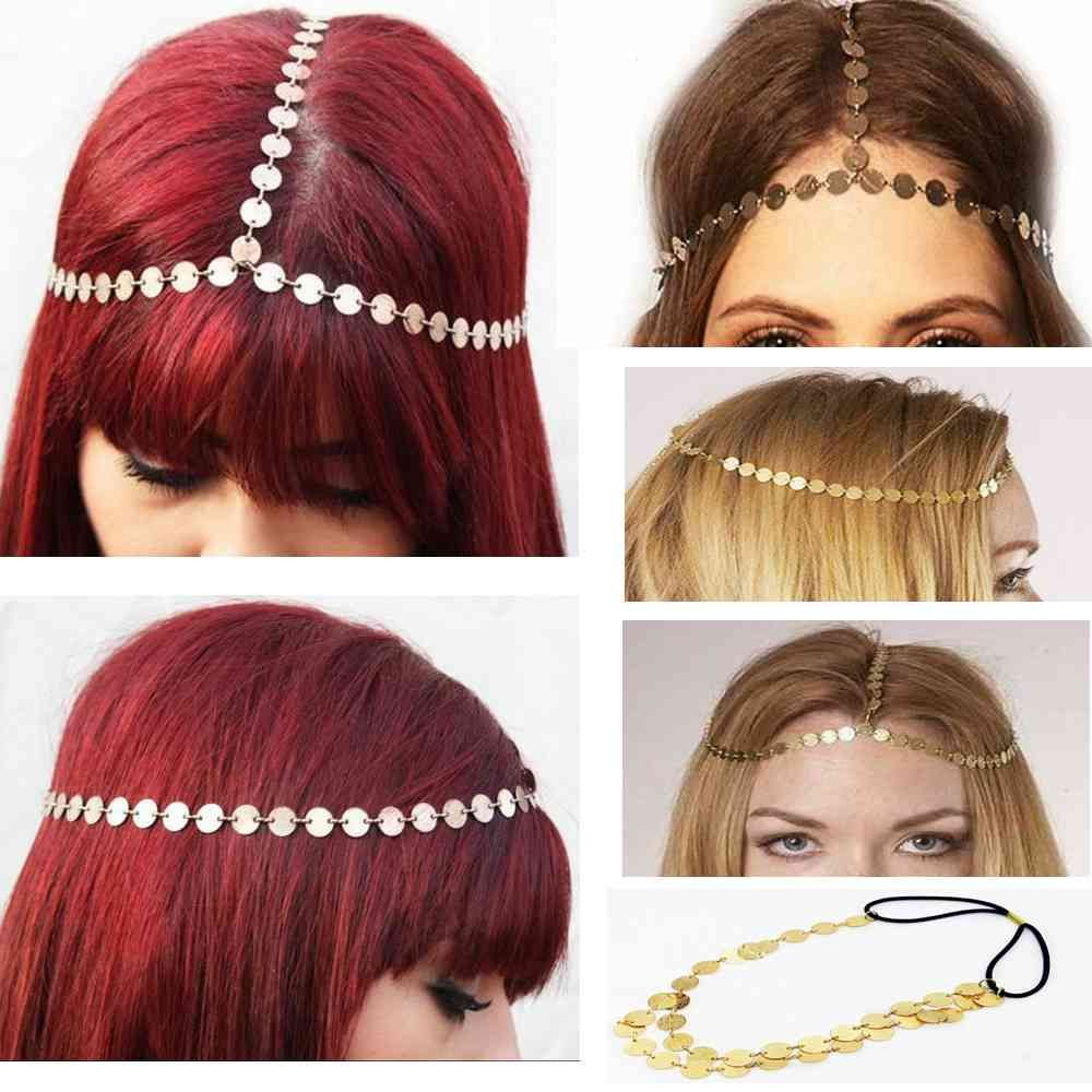 Fashion accessories simple style metal matte texture round elastic band headband ladies trendy hair band