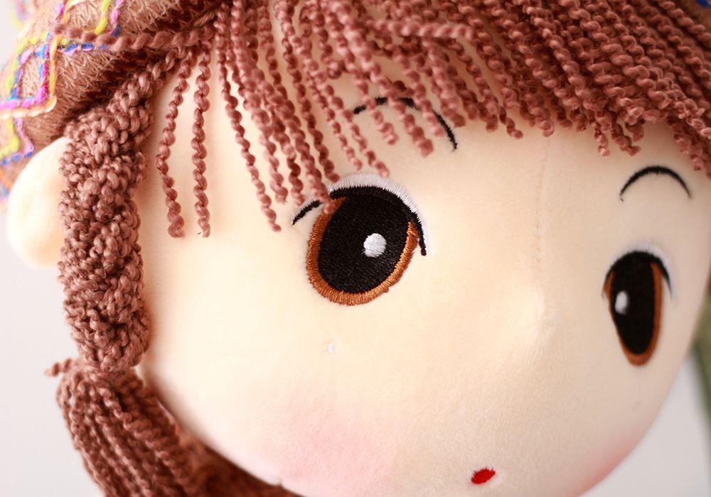 40CM Braid Hair  Cute Girl Plush Doll Toy