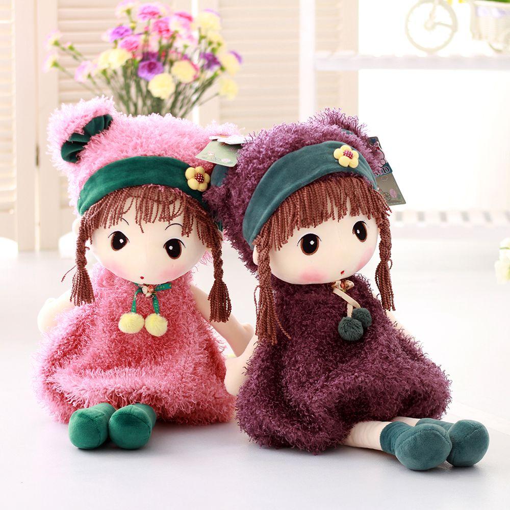 40CM Cute Pigtail Braids Cartoon Plush Toys