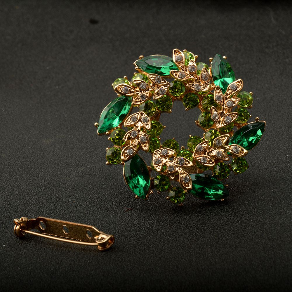 High-Grade  Brooches For Women  Korean Style Bauhinia Flower Corsage Crystal Rhinestone Brooch Pin Jewelry