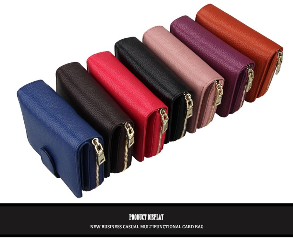 Fashion Women Genuine Leather Wallets Mini Cowhide Bag Card Holder