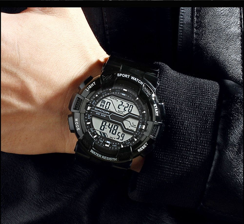 Men Large Dial Waterproof Personalized Electronic Fashion Outdoor Sports Watches