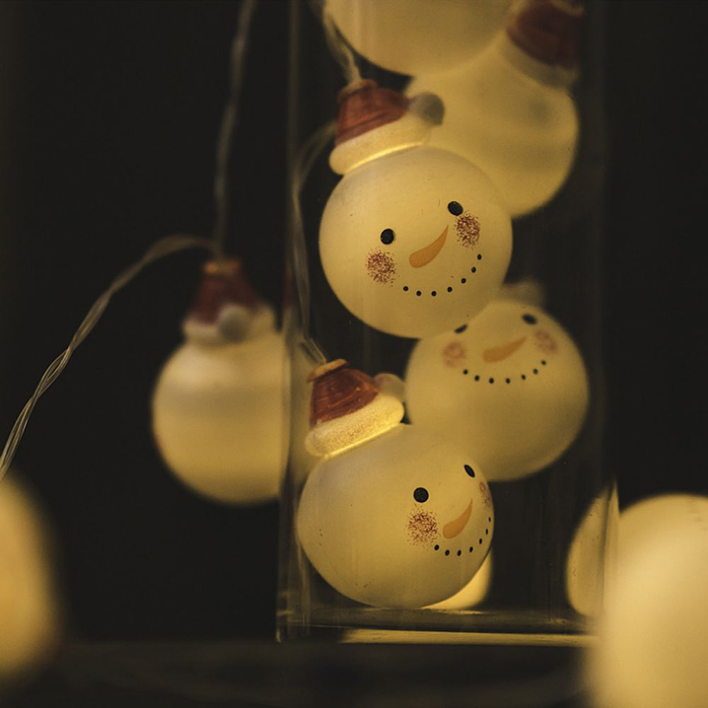 Christmas Baby Snow Headlights Holiday Decorations Warm White with Batteries
