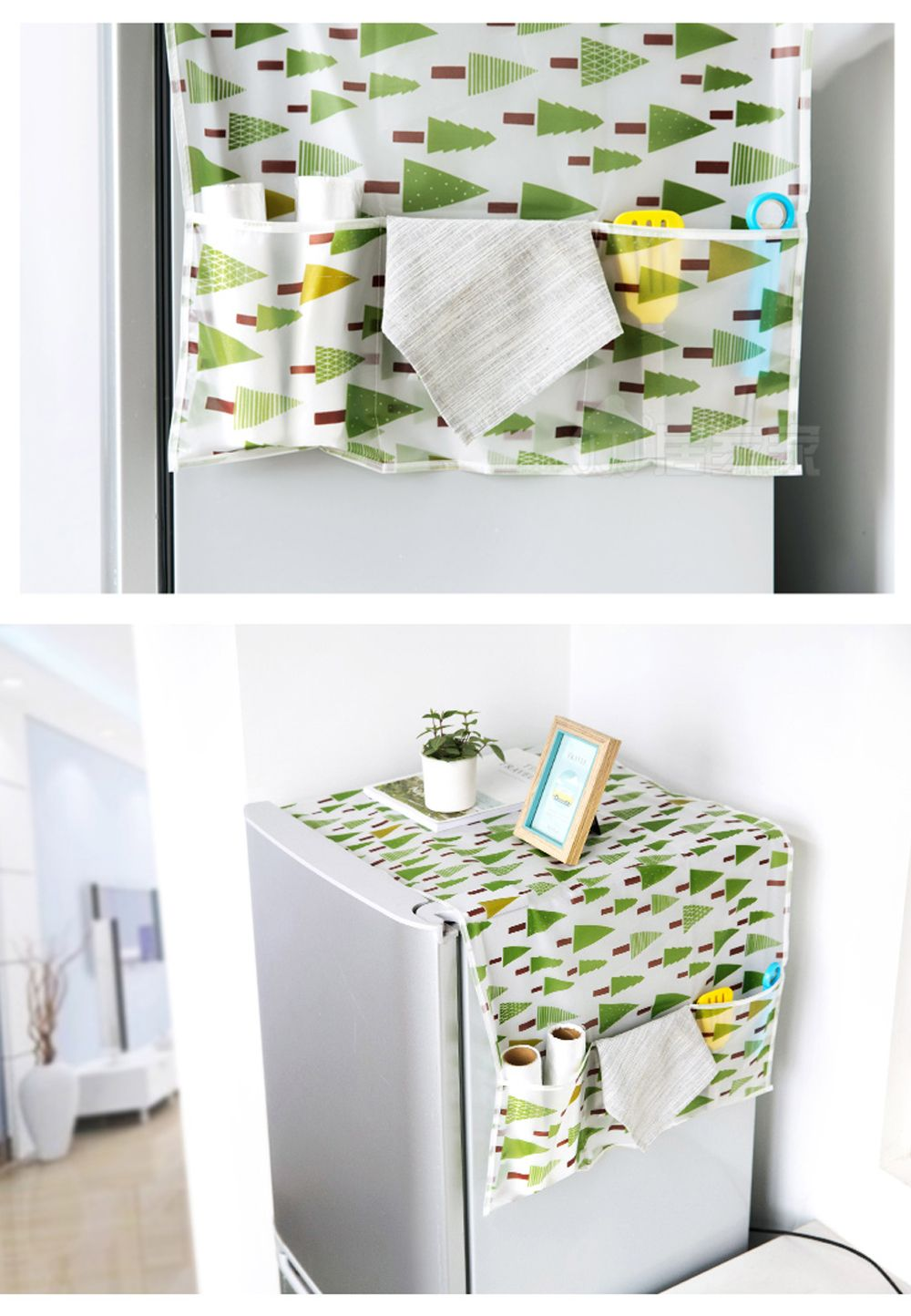 Fabric Dustproof Refrigerator Cover Sheet Hanging Storage Bag