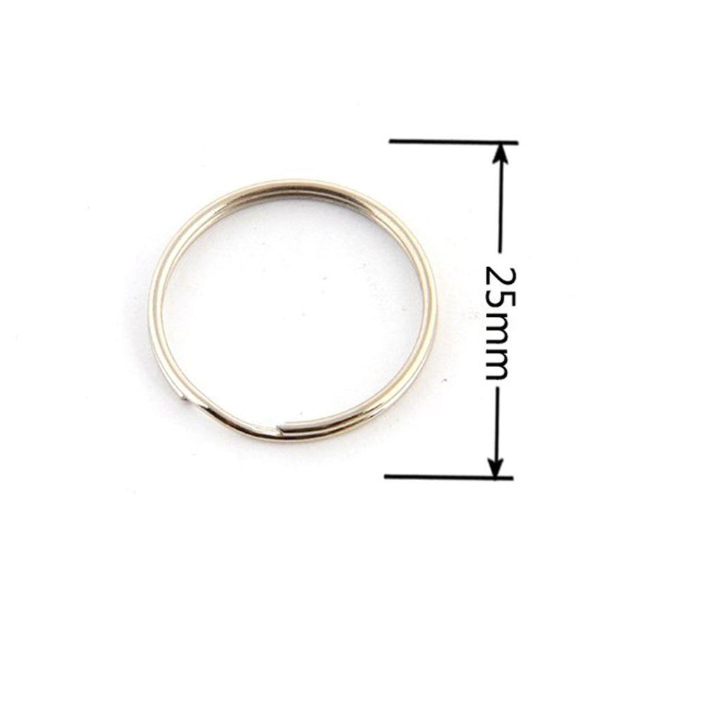 25mm Round Metal Iron Split Key Rings 100 PCS