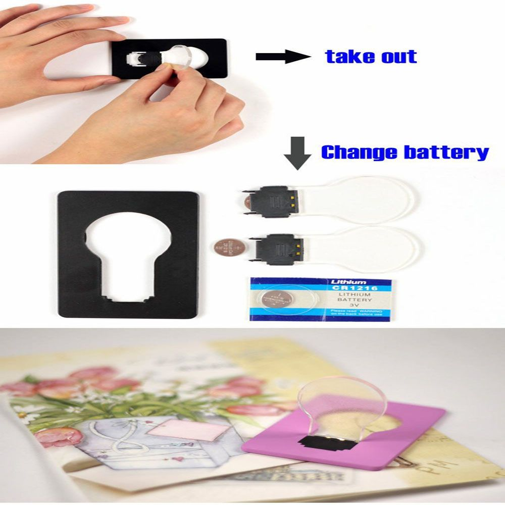 Christmas Tree Shape LED Pocket Lamp Mini Portable Folding led Pocket Wallet Credit card light