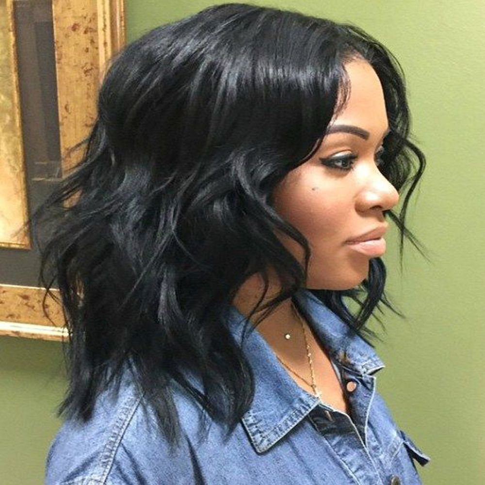 130% Short Bob Wigs Glueless Lace Front Wigs for Black Women