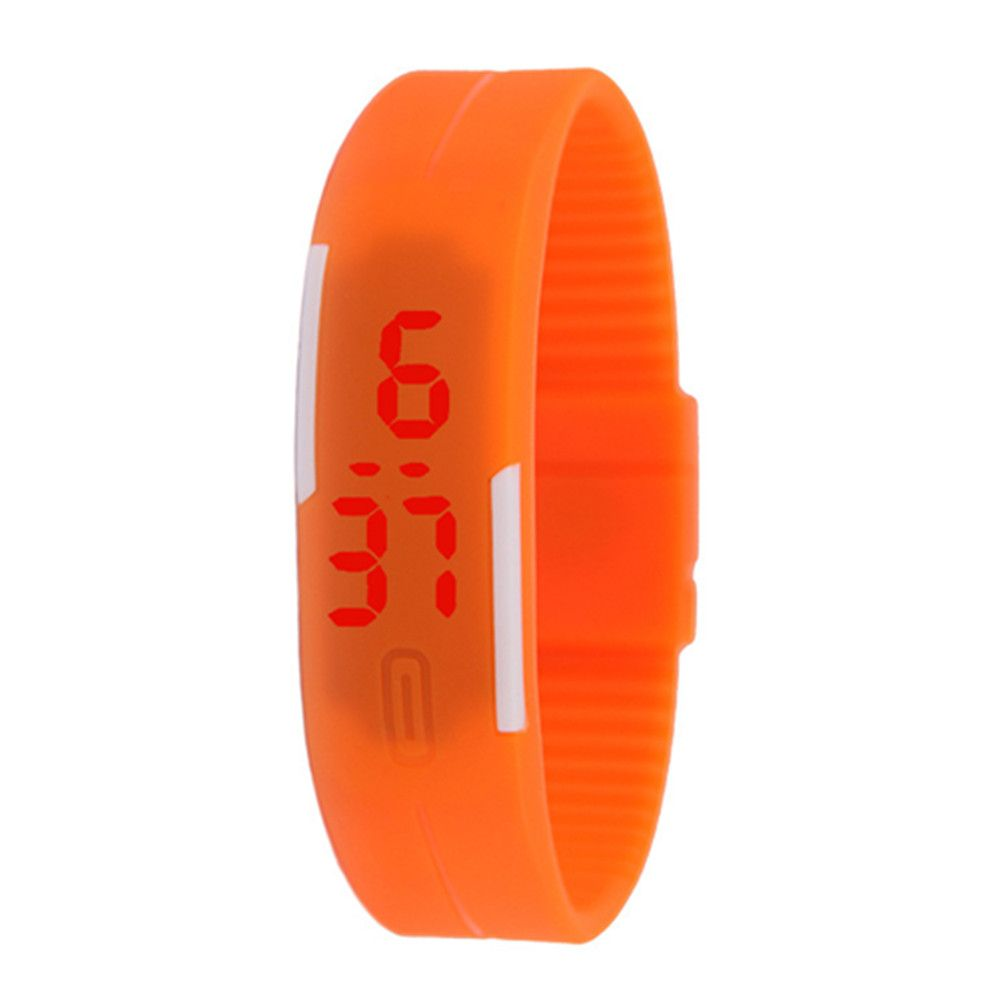 Silicone Rubber Gel Jelly LED Wrist Watch Bracelet Men Women