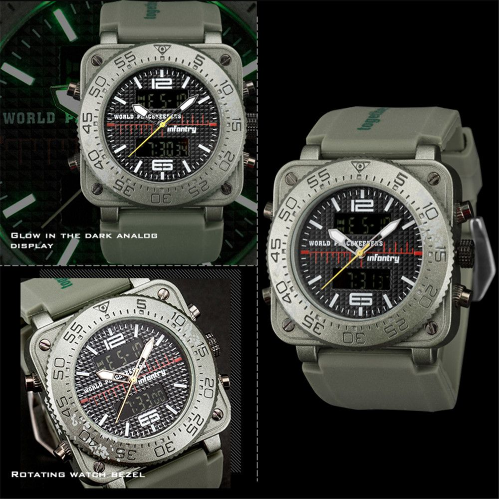 INFANTRY 001 4875 Casual Fashion Trend Band Calendar Men Watch