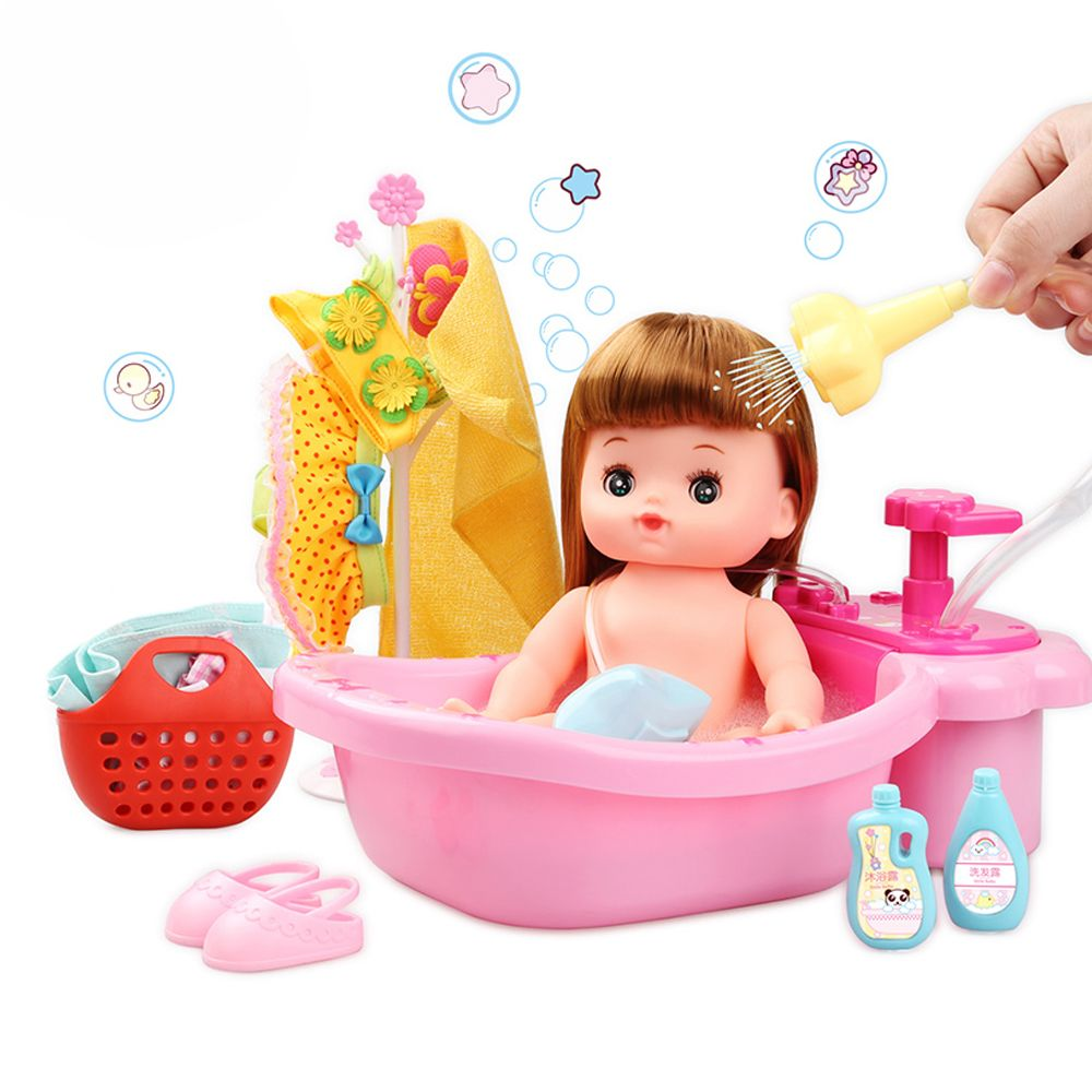 Simulation Doll Girl Baby Toy Happy Bubble Bath Suit
