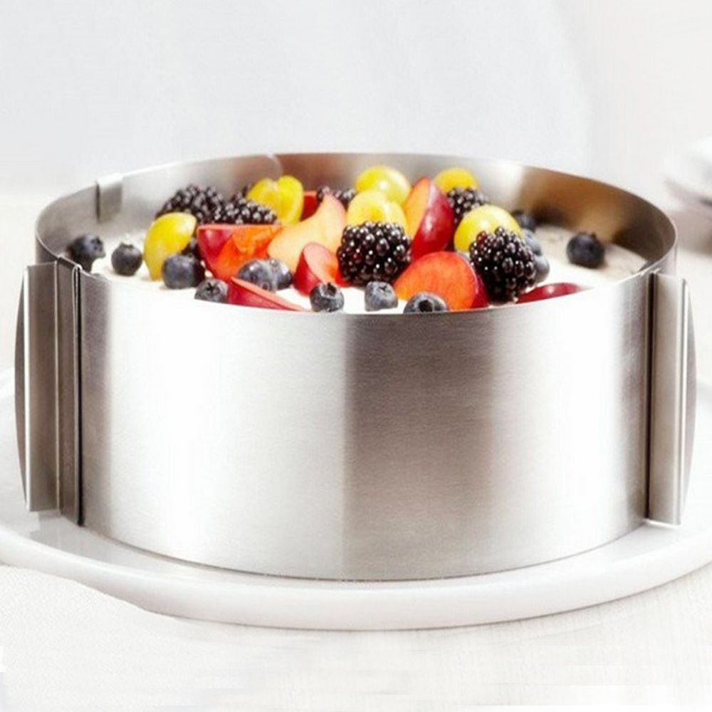 Retractable Stainless Steel Circle Mousse Ring Baking Tool Set Cake Mould Mold Size Adjustable