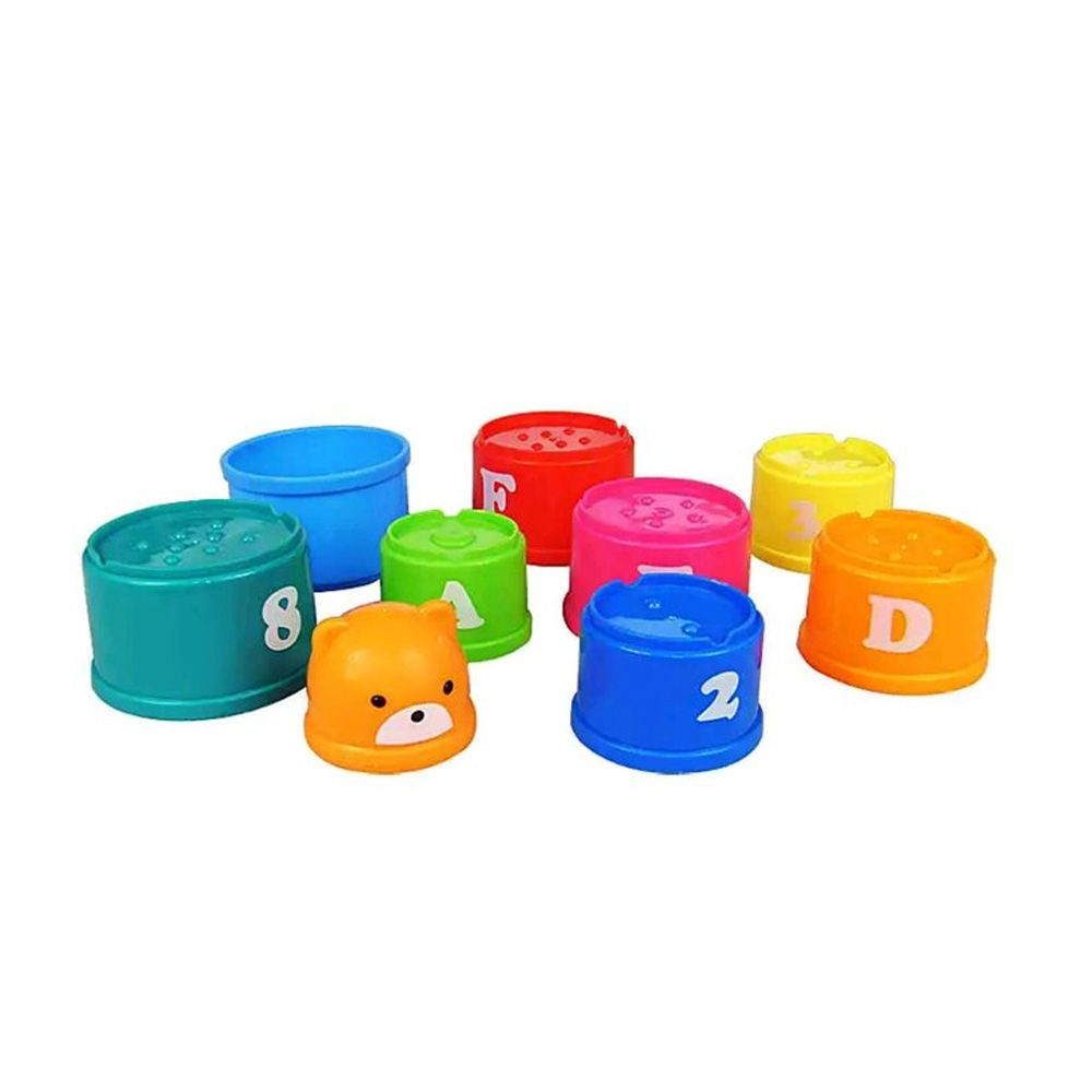 Rainbow Bear Is Interesting in Folding Cup Children Wisdom Early Teaching Toys