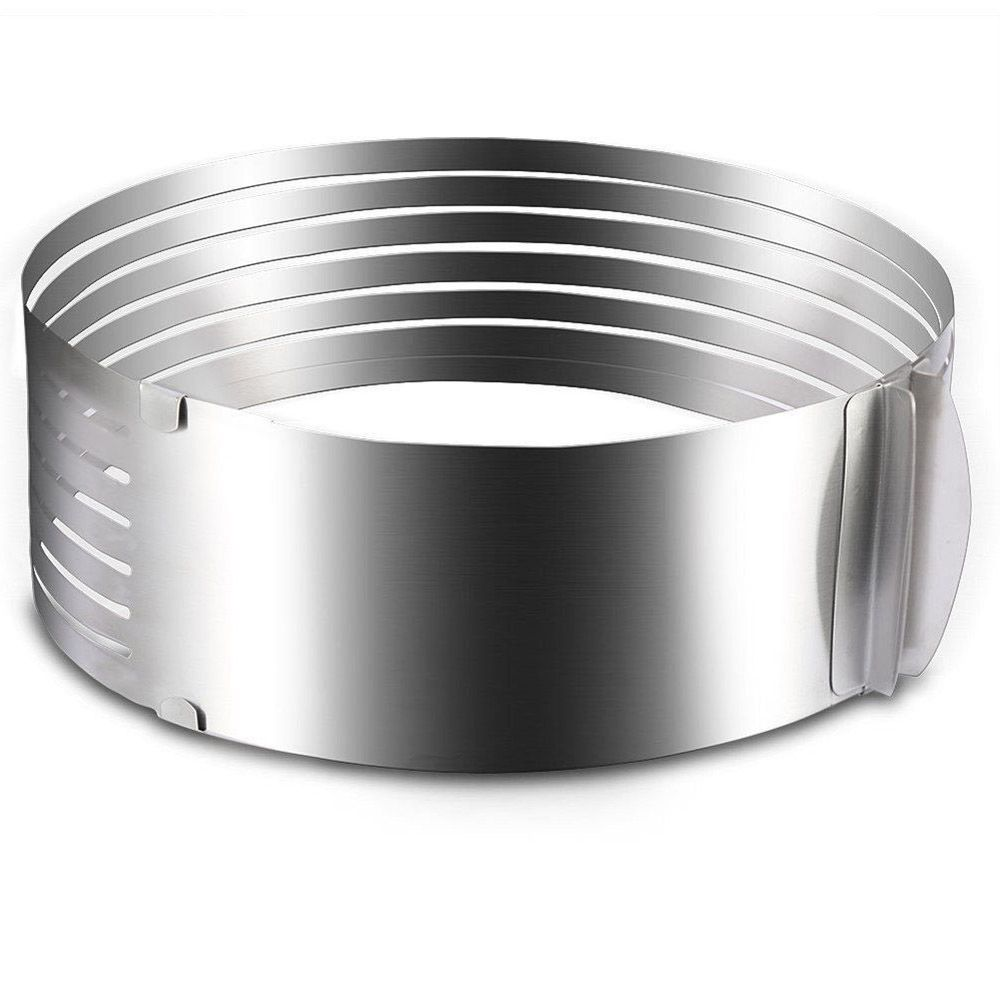 Adjustable 9 Inch - 12 Inch Stainless Steel Layer Cake Slicer Mousse Mould