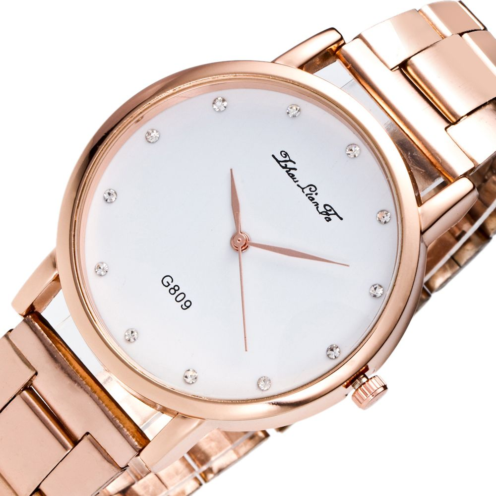 ZhouLianFa Casual Fashion Trend Steel Belt Diamond Luxury Quartz Watch