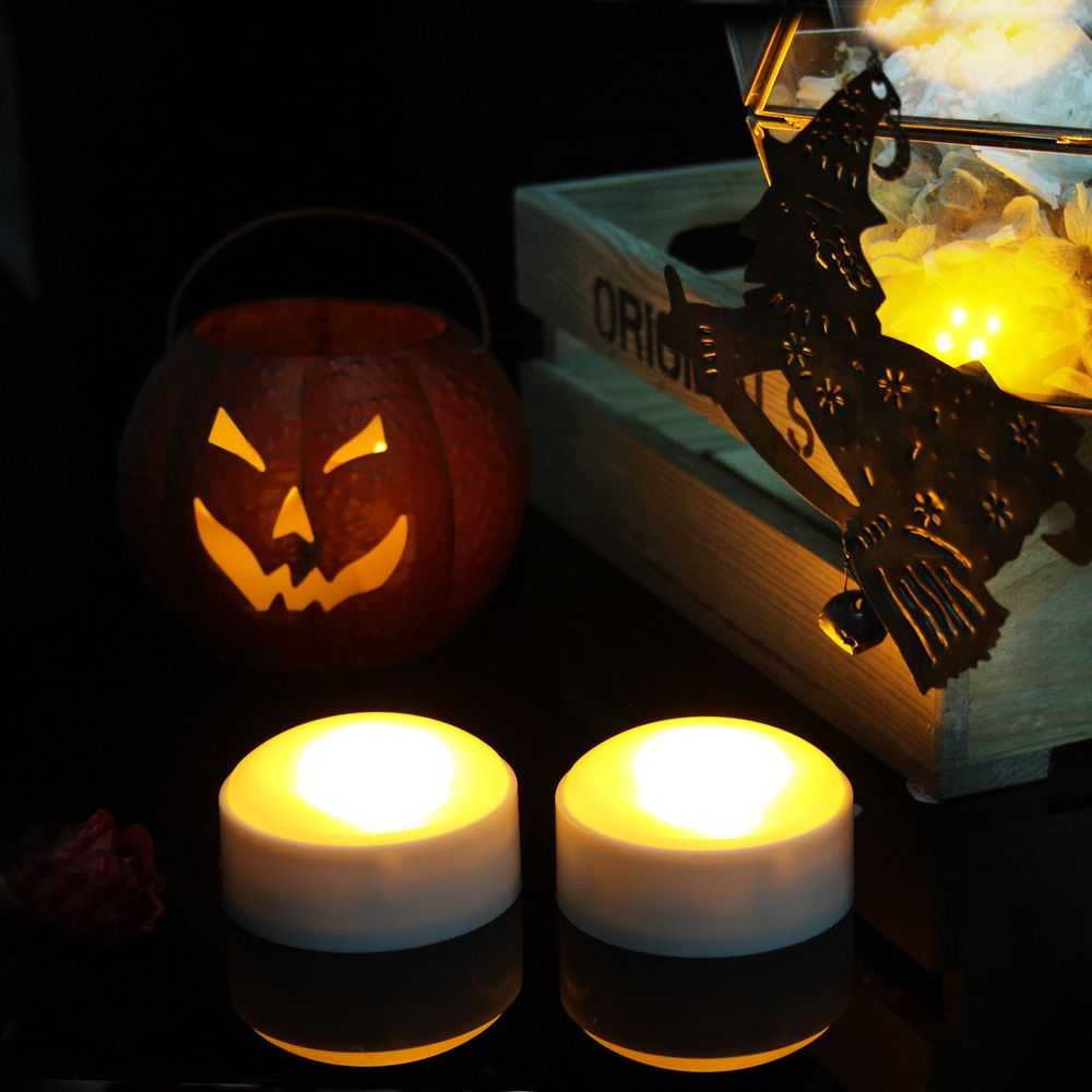Set of Two Pumpkin Lights with remote White