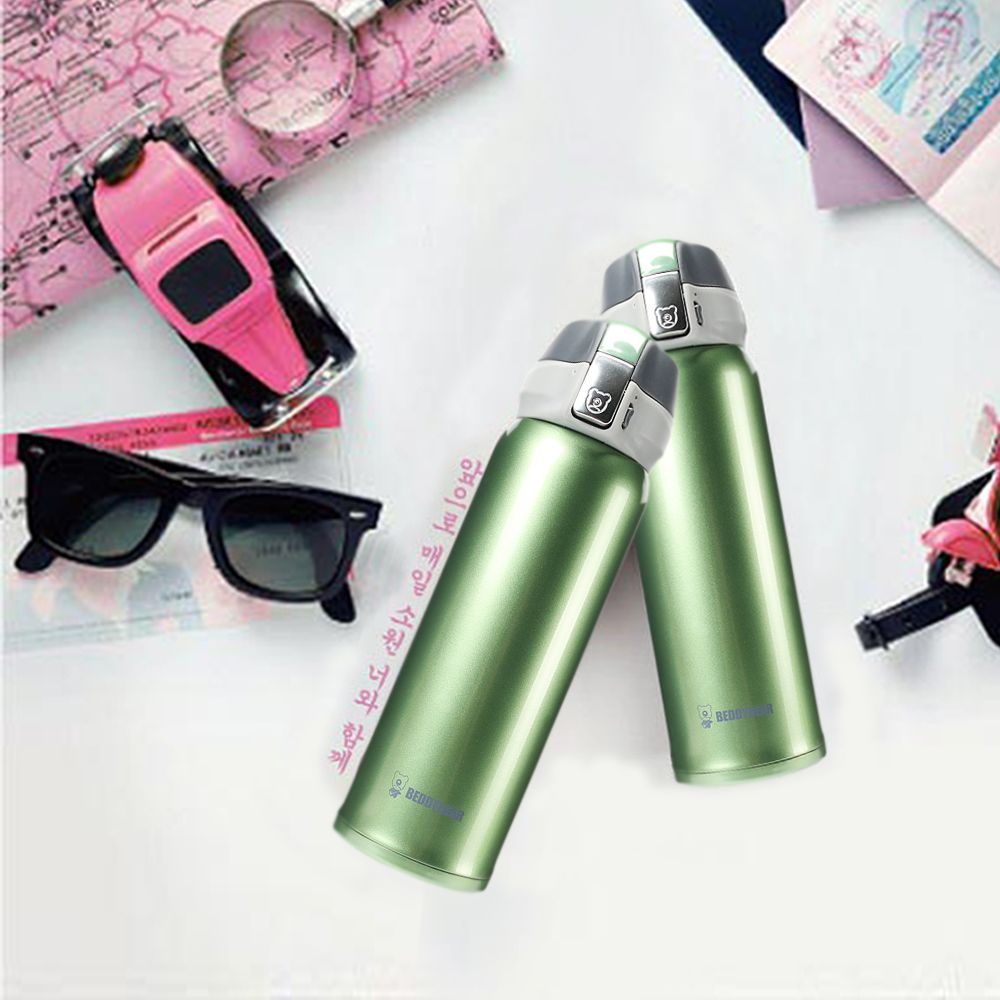 Cup Bear New UV Solid Color Stainless Steel Simple Insulation Cup 450ML