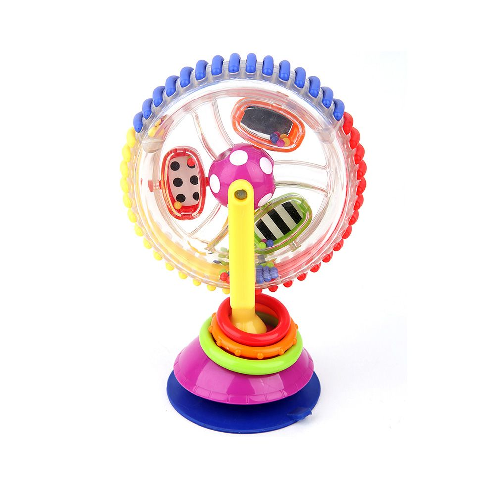 Three - Colored Revolving Ferris Wheel Baby Windmill Baby Dining Chair Trolley Suction Toy