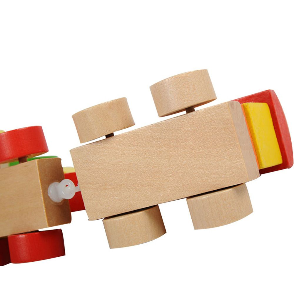 Interesting Digital Train Baby Wooden educational Early Education Diy Stitching Toy