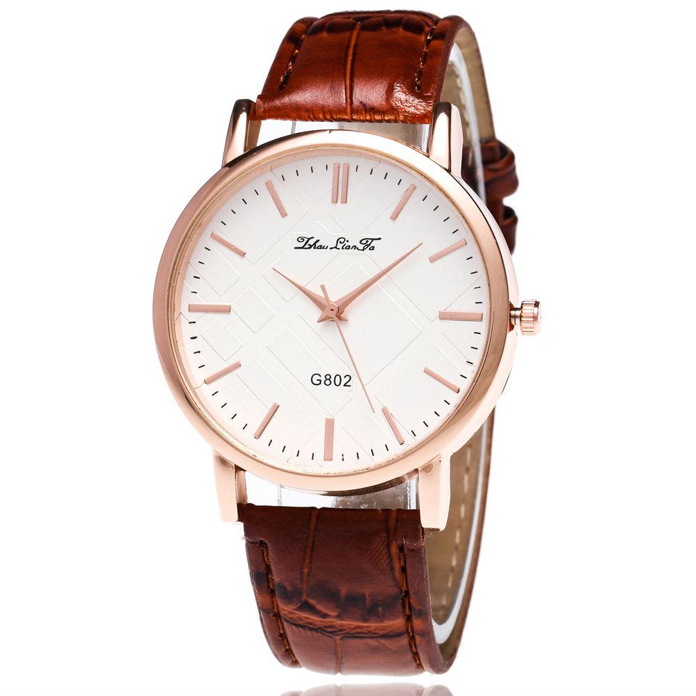 ZhouLianFa Leisure Fashion Business Luxury Brand Fashion Slub Quartz Watch