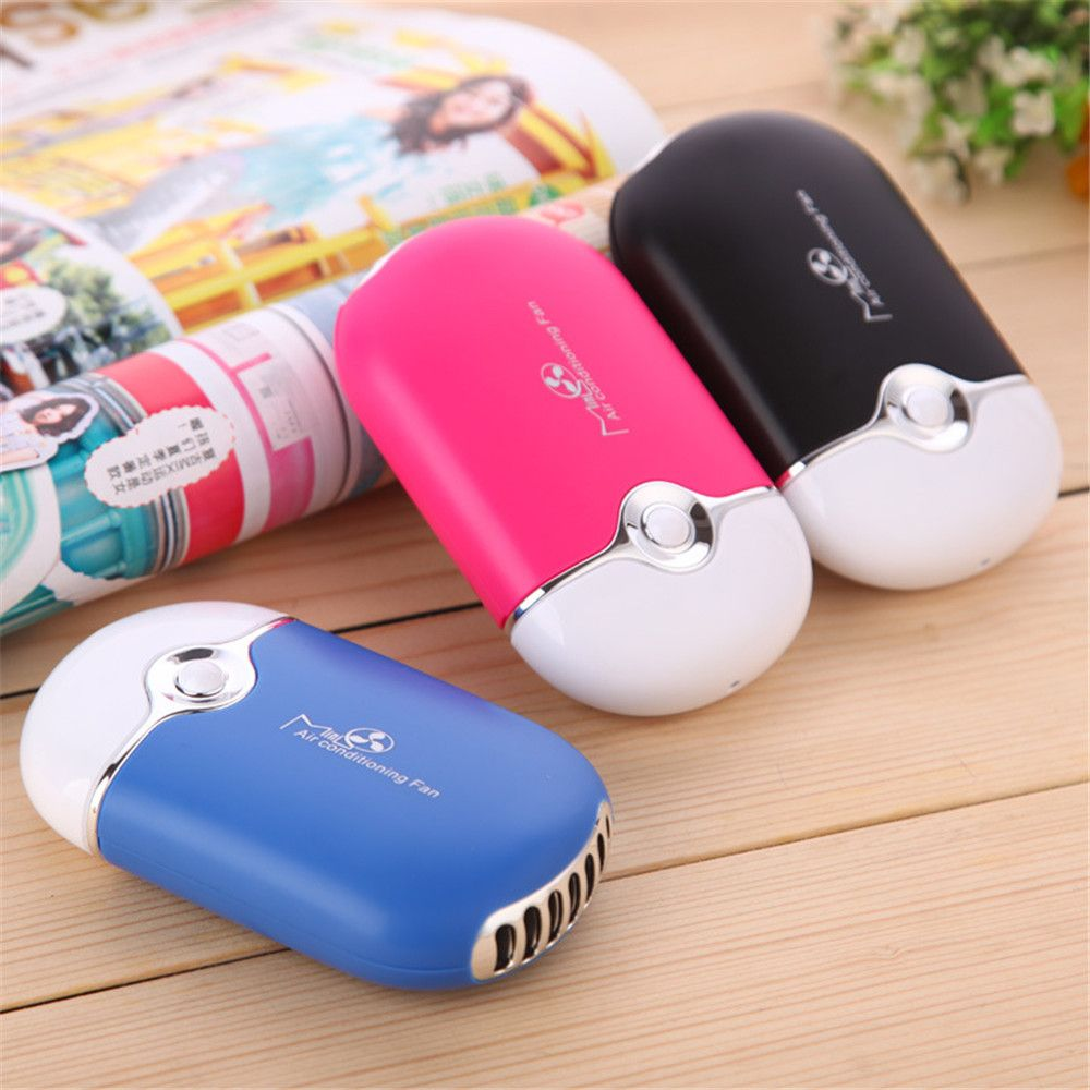Charging Mini Fan USB Mini Fan Palm Air Conditioning Fan Hairdressing Mute Large Air Volume